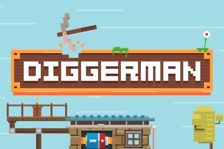 【DIGGERMAN】レトロ感漂うコツコツゲー「ディガーマン」を遊んでみた