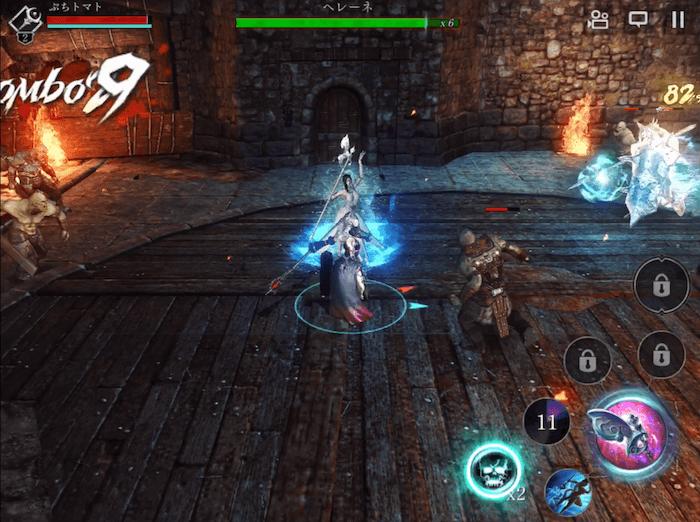 【ダークアベンジャークロス】戦闘アクションは丁寧に作られており、エフェクトも綺麗です