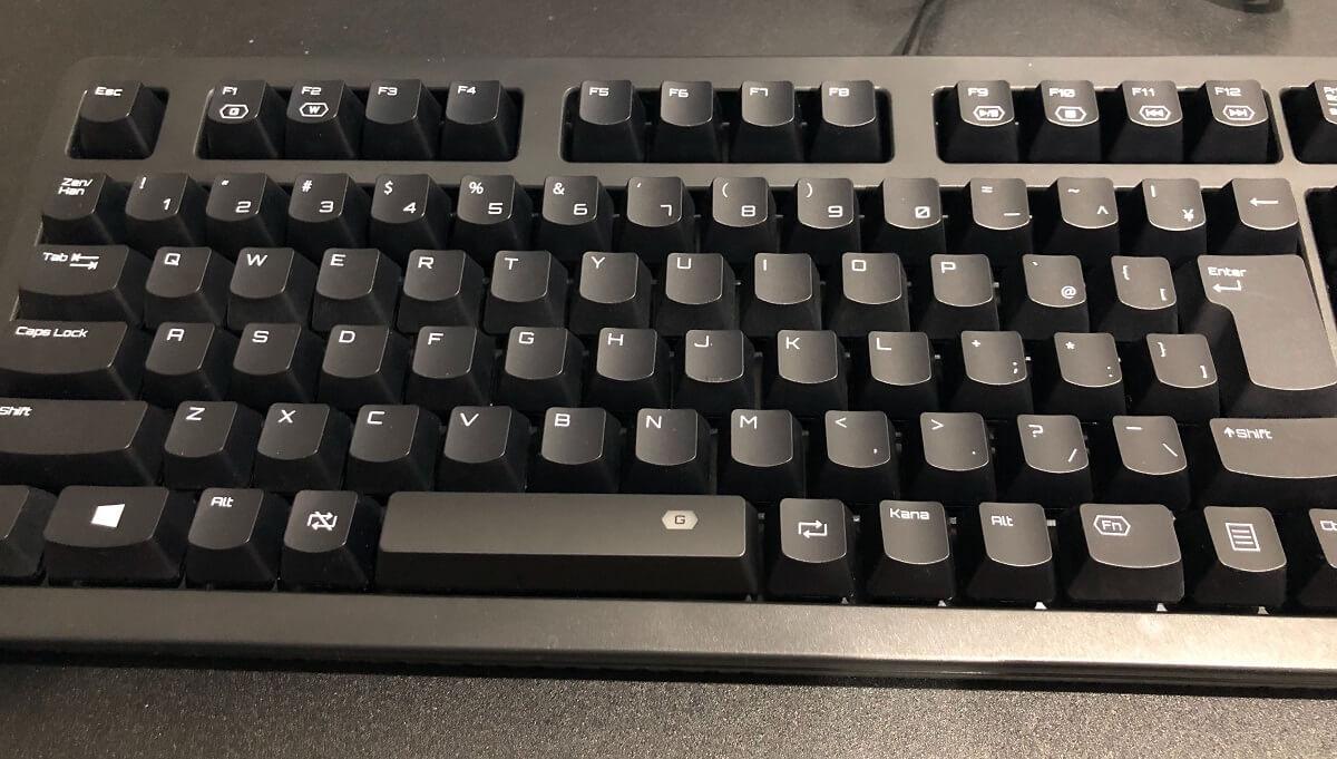 キーボード左側