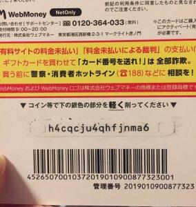 WEBマネー5000円分をコンビにで購入