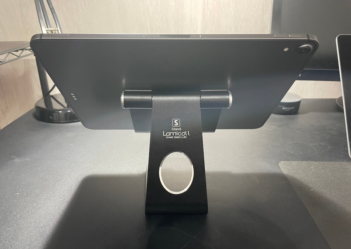 【PUBGモバイル】iPad使い必見!勝てるゲーミングスタンドはこれ/Lomicall iPad用スタンド【裏面/iPadを置いた状態】